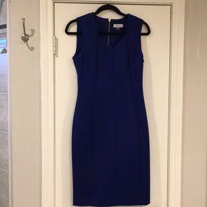 Calvin Klein Blue Scuba Sheet Dress - Size 6